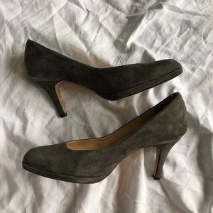 Grey Suede Cole Haan Heels